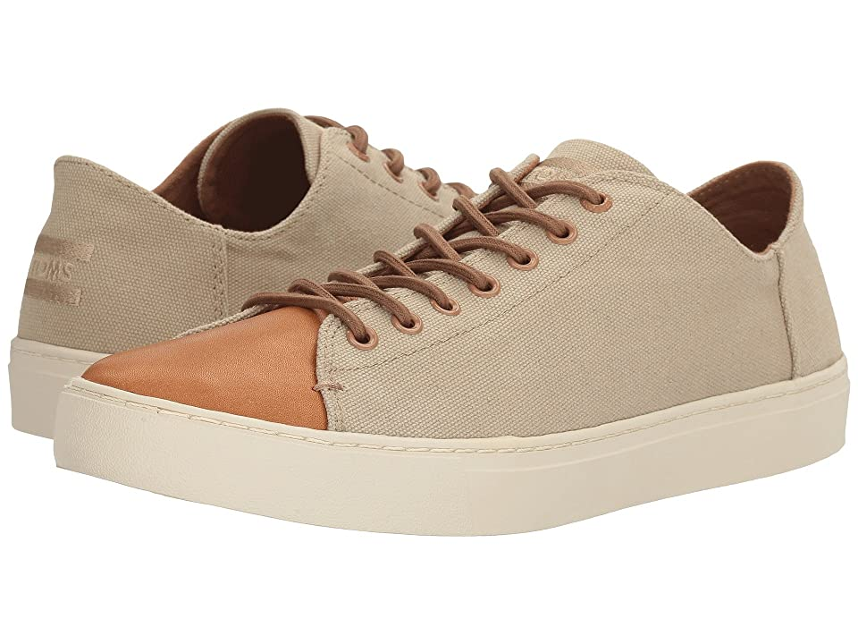 TOMS Lenox Sneaker (Desert Taupe Washed Canvas/Leather) Men