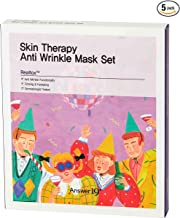 [ANSWER NINETEEN+] Skin Therapy Anti Wrinkle Mask Set – Bio Cellulose Sheet, Contains Realtox 2,000ppm, Elasticity Care, Fine Wrinkle Care, Lifting Effect, Moisturizing, 25g / 0.88 fl. Oz, Pack of 5