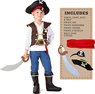 Boys Pirate Costume for Kids Deluxe Costume Set