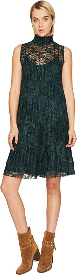 Lace and Pleats Dress