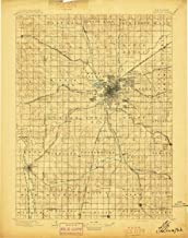YellowMaps Lincoln NE topo map, 1:125000 Scale, 30 X 30 Minute, Historical, 1897, 20.4 x 16 in