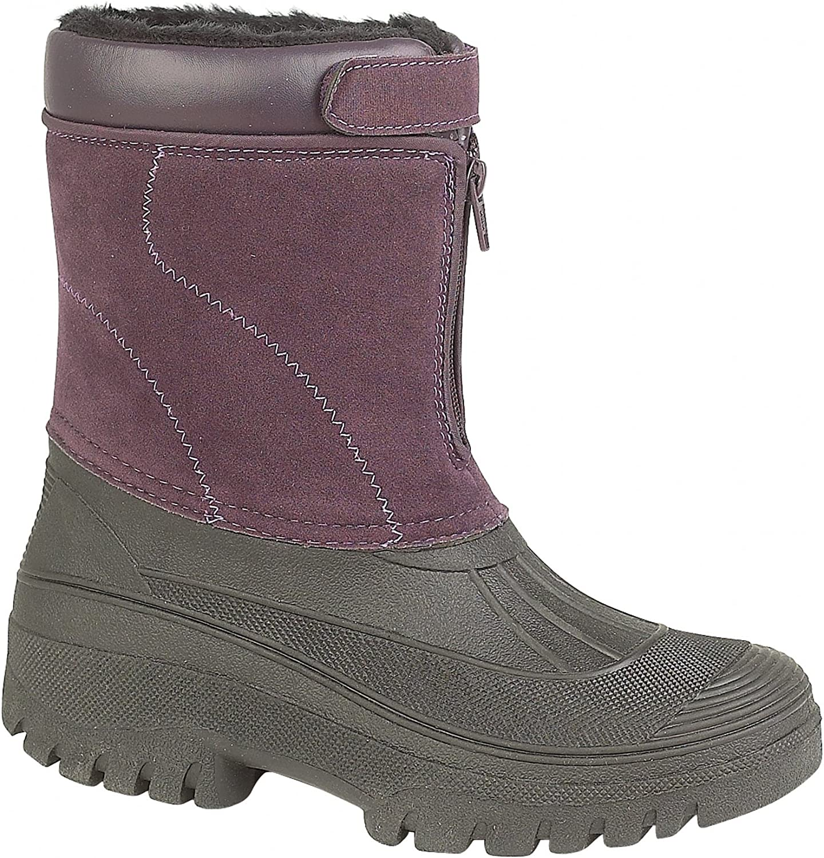 Mirak Venture Waterproof Ladies Boot Ladies Boots Textile Weather Wellingtons (12 US) (Purple)