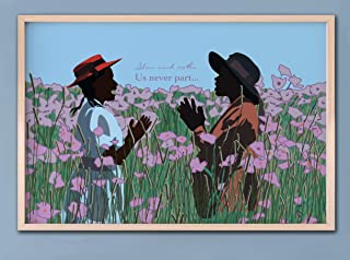 The Color Purple Movie Art Poster- Sisters Play - You and Me Us Never Part, Alice Walker, Classic Movie Print, Feminist Art Print Poster African American Art Decor