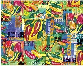 "Magic Slice Chili Peppers Collage by Denise Sullivan Non-Slip Flexible Cutting Board, 12"""" x 15"""""
