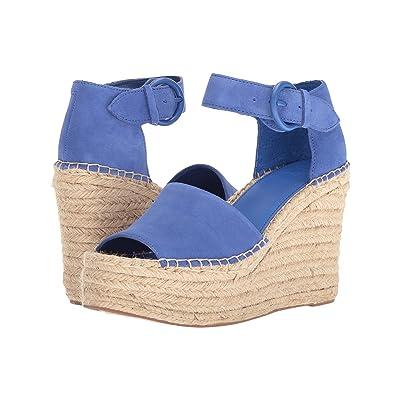 Marc Fisher LTD Alida Espadrille Wedge (Medium Blue Suede) Women
