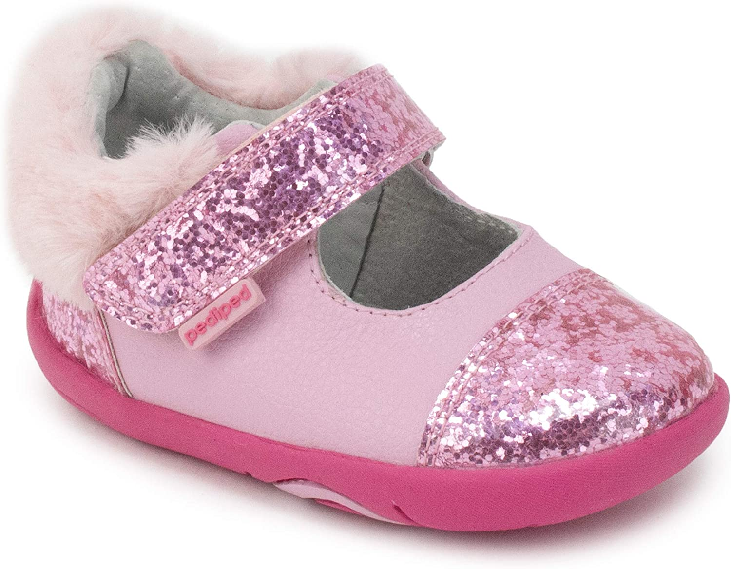 pediped, Girls, Toddler, Big Kid, Sassy, Pink, Leather and Man-Made Upper, Mary Jane - EU 21 (US 5.5)