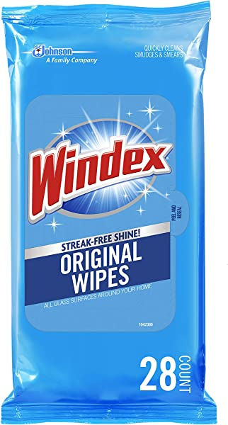 Windex Flat Pack Wipes 28 Count Pack Of 3