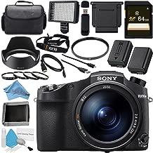 Sony Cyber-Shot DSC-RX10 IV DSCRX10M4/B Digital Camera + 64GB SDXC Card + NP-FW50 Lithium Ion Battery + 72mm UV Filter + 72mm Macro Close Up Kit + Carrying Case Bundle