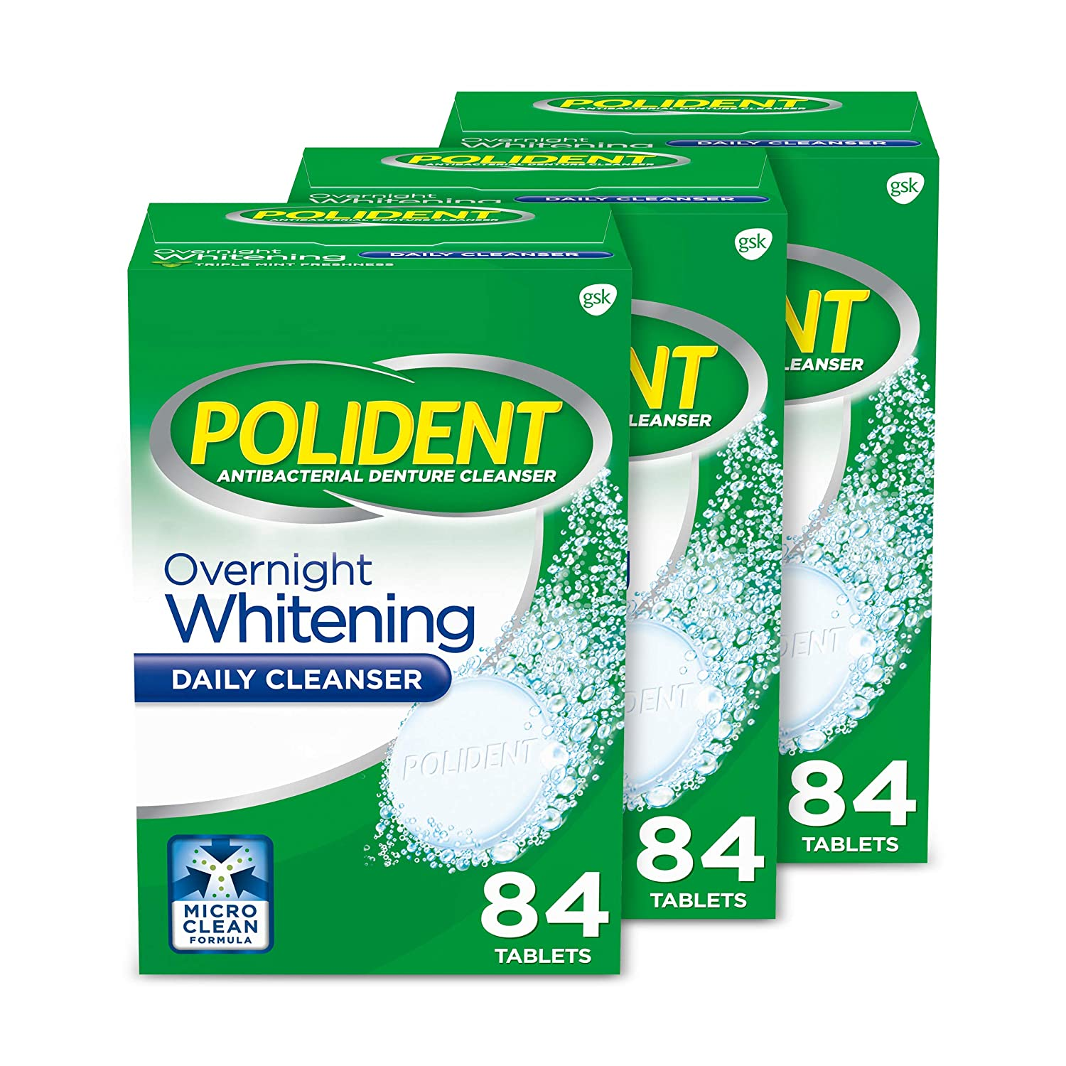Sales for sale Polident Colorado Springs Mall Overnight Whitening Denture Effervescent Cleanser Table
