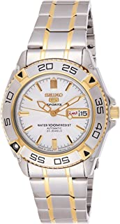 Seiko 5 Men's White Dial Stainless Steel Automatic Watch - SNZB24J1