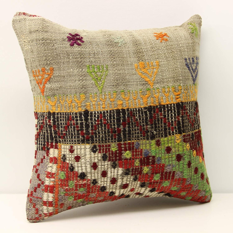 Anatolian kilim Over item handling pillow cover 16x16 Kilim cm 40x40 Limited price sale Modern inch