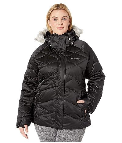 Columbia Plus Size Lay D Downtm II Jacket (Black Satin 2) Women