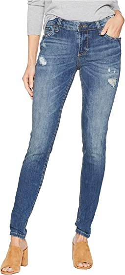Mia Toothpick Skinny Notch Front Pocket Jeans in Rallied