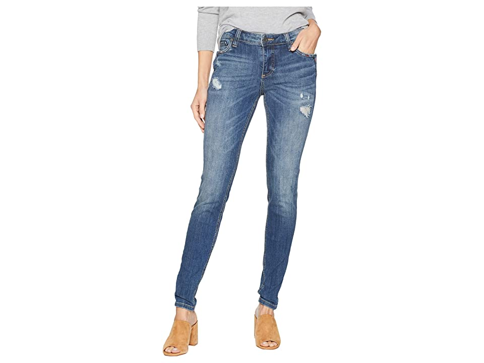 KUT from the Kloth Mia Toothpick Skinny Notch Front Pocket Jeans in Rallied (Rallied/Medium Base Wash) Women