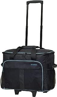 Bolsa / carrito acolchado profesional para tontosMáquina de coser dorada - gris oscuro / azul