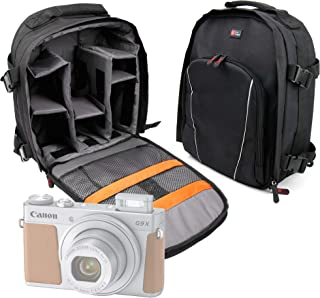 DURAGADGET Mochila Resistente Al Agua + Funda Impermeable para Cámara Canon PowerShot G9 X Mark II | Fujifilm XP120 | Nikon D5600 | Polaroid Pop