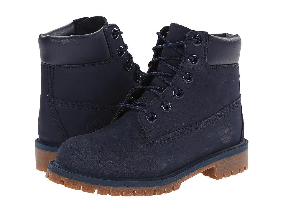 60b3cdecc0cf Timberland Kids 6 Premium Waterproof Boot Core (Big Kid) (Navy Nubuck) Boys