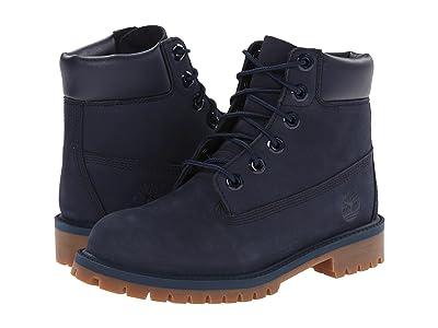 Timberland Kids 6 Premium Waterproof Boot Core (Big Kid) (Navy Nubuck) Boys Shoes