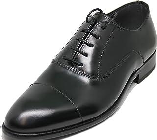 2964. Lottusse. Zapato Estilo Oxford, Piel de Becerro rectificado Brillante de Primera Calidad, Color Negro