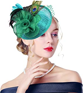 peacock derby hat