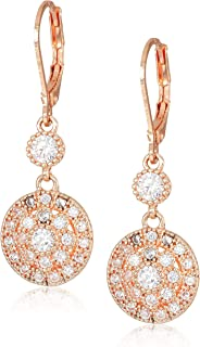 Classics Rose Gold Stone Leverback Drop Earring, One Size