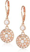 Anne Klein Classics Rose Gold Stone Leverback Drop Earring, One Size