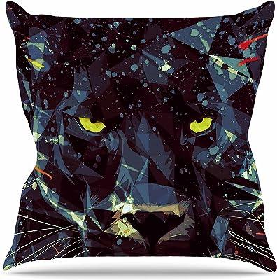16 by 16 Kess InHouse EBI Emporium The Reverie Yellow Blue Throw Pillow