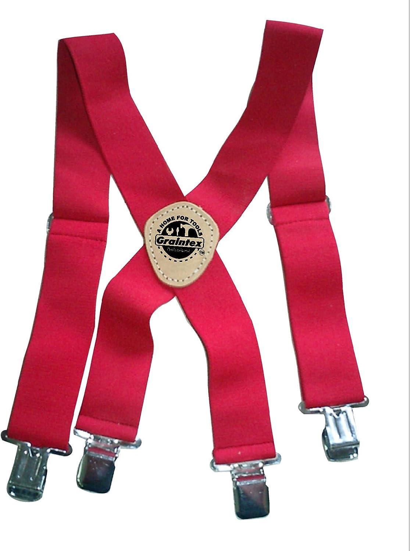 Graintex ES1495 Red Color Elastic Suspenders