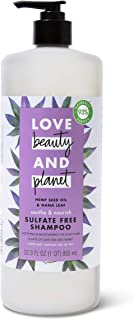 Love Beauty And Planet Soothe and Nourish Sulfate-Free Shampoo Dry Hair and Nourished Hair Care Hemp Seed Oil & Nana Leaf ...