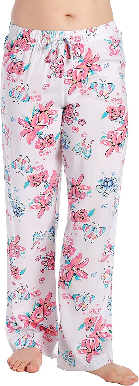 Noble Mount Women's Woven Viscose Sleep/Lounge Pants (Juniors)