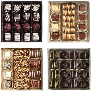 Valentine's Day Chocolate Heart Box - Assorted Chocolates Set of 4 (63 pc)