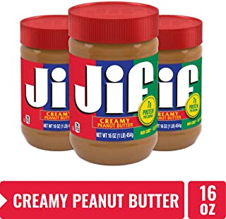 Jif Creamy Peanut Butter, 16 Ounces, 7g (7% DV) of Protein per Serving, Smooth, Creamy..