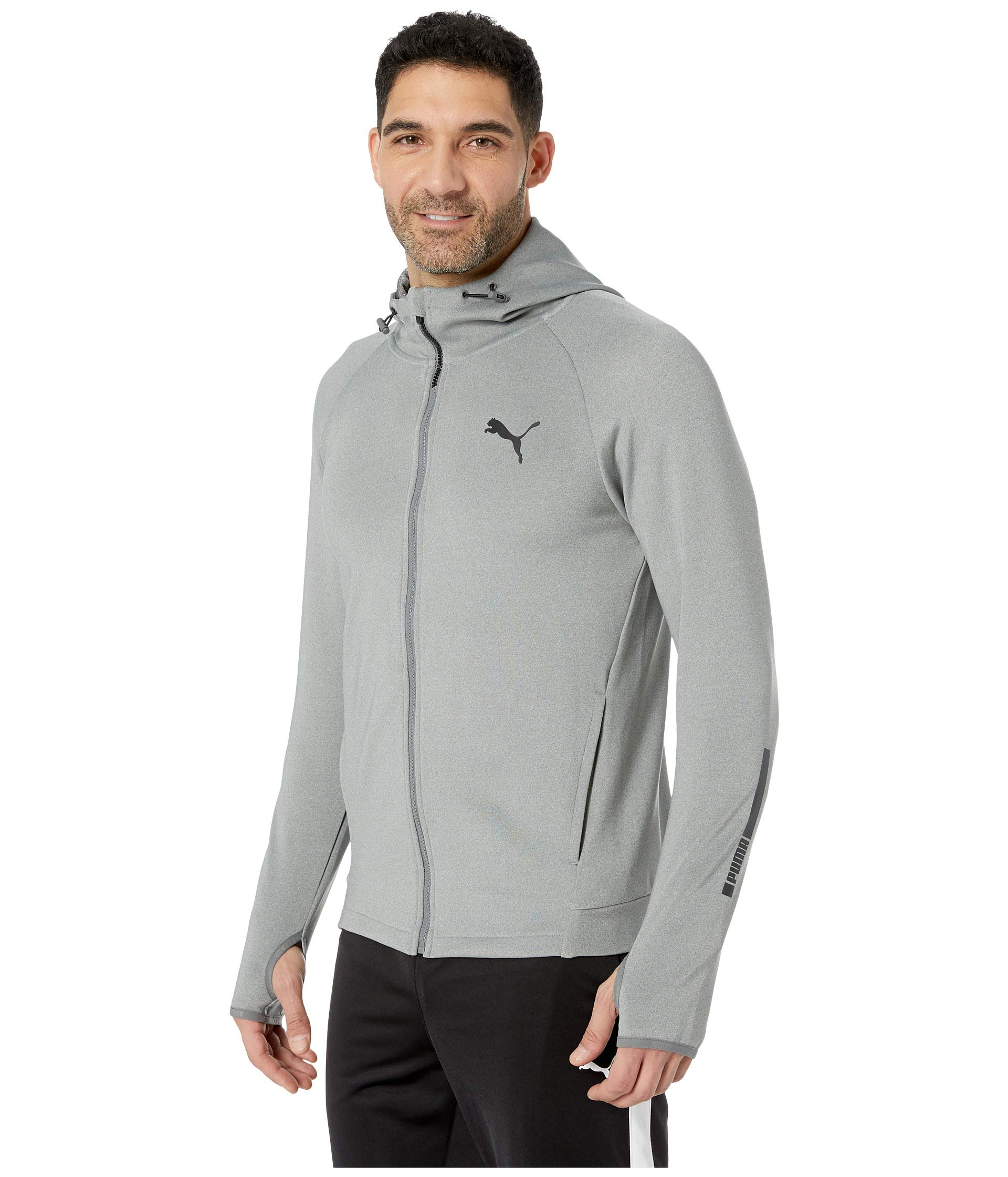 Sports Heather Grey Medium Zip Tec Full Puma Hoodie qHxp50w5A