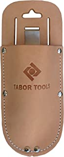 TABOR TOOLS H1 Leather Holster for Pruning Shears, Sturdy Craftsmanship Tool Belt Accessory Sheath, Fits Most Garden Scissors.