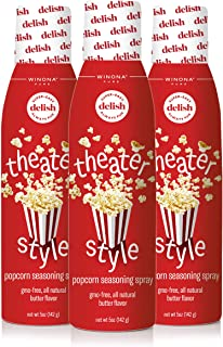 Winona Pure Popcorn Butter, Theater Style 5 Ounce (3-Pack) | Delicious Popcorn Spray with 0 Calories per Serving, Perfect ...