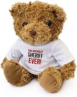 London Teddy Bears The Greatest Sheriff Ever – Oso de Peluche – Lindo Suave Peluche – Regalo de Premio, Regalo de cumpleaños Navidad