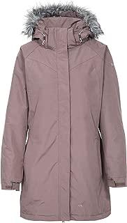 San Fran Womens Waterproof Jacket Ladies Long Raincoat with Fur Hood