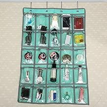 Caveen Classroom Pocket Chart Sundries Closet Pocket Chart for Cell Phones Holder Wall Door Hanging Organizer (25 Pockets) (Blue)