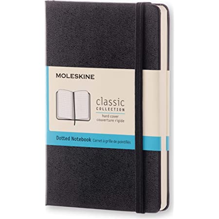 """Moleskine Classic Notebook, Hard Cover, Pocket (3.5"""" x 5.5"""") Dotted, Black, 192 Pages"""