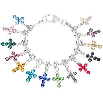 SUPVOX 200 pz Colore Misto Croce Pendente Acrilico Perline Charms per la Collana monili Che Fanno Fai da Te mestiere Colore Casuale