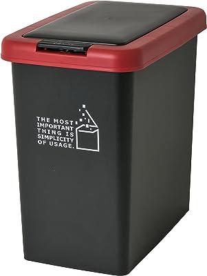 サンコープラスチック 日本製 ゴミ箱 スリムプッシュ 20L ブラック 451378