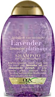 Ogx Shampoo Lavender Platinum Tone Reviving 13 Ounce (385ml) (2 Pack)