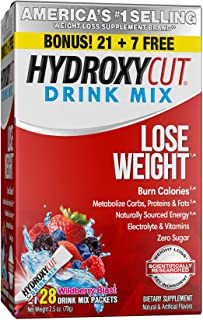 Weight Loss Drink Mix | Hydroxycut Lose Weight Drink Mix | Weight Loss for Women & Men | Weight Loss Supplement | Energy D...