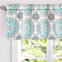 DriftAway Bella Medallion Pattern Room Darkening Rod Pocket Window Curtain Valance 52..