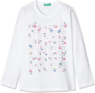 United Colors of Benetton Kelebek Çiçek Baskılı Tişört Kız çocuk T-Shirt