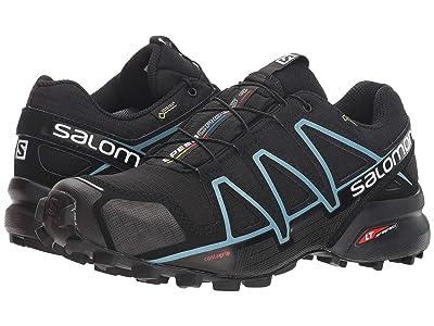 Salomon Speedcross 4 GTX (Black/Black/Metallic Bubble Blue) Women