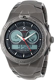 Rip Curl Men's A1032-BLK Ultimate Titanium Tidemaster 2 Black Tide Watch