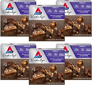 Atkins Endulge Treat, Pecan Caramel Clusters, Keto Friendly, 10 Count, Pack of 6