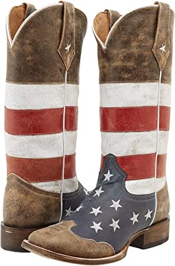 American Flag Square Toe Boot