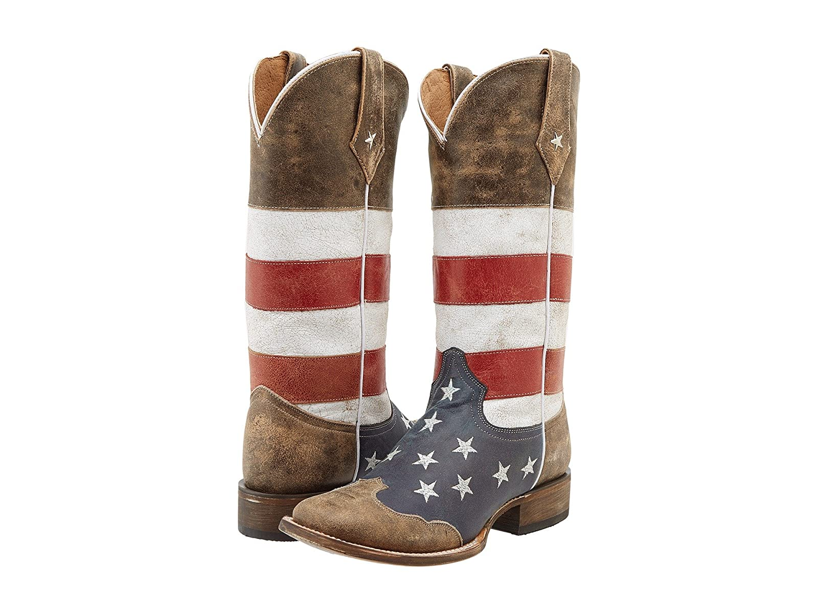 Roper American Flag Square Toe BootEconomical and quality shoes